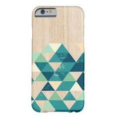 Colourful geometric tall triangle pattern on light wood texture, with teal, turquoise, light cream colors plus a very light subtle wood texture. plus a very subtle grunge pattern all over the case that makes it look like some parts of the design are washed out. This a modern and simple minimalistic abstract vintage artwork, inspired by tribal aztec pattern.