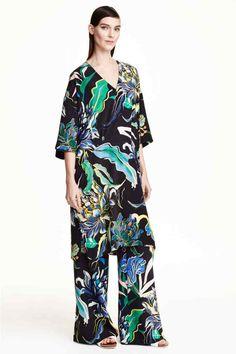 Robe en soie à motif | H&M