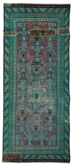 over dyed distressed rug 16587 | Woven Online