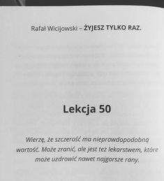 """Polubienia: 716, komentarze: 3 – Rafał Wicijowski (@rafalwicijowski) na Instagramie: """"Książki Oczami Mężczyzny znajdziesz na stronie:  www.zamowksiazke.pl  #rafalwicijowski…"""" Life Motto, Sentences, Math Equations, Instagram, Frases, Motto, Quotes About Life"""