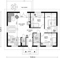 Projekt domu Jak marzenie 88,53 m2 - koszt budowy 83 tys. zł - EXTRADOM Vastu Shastra, Construction, Facade House, New Room, House Floor Plans, Second Floor, Soho, Future House, Sweet Home