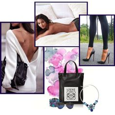 A fashion look from November 2014 featuring black handbags, colorful bib necklace e amethyst jewelry. Browse and shop related looks.