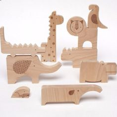 Petit Collage's Safari Animal Wooden Jumble Doubles as a Puzzle & a Playset safari-jumble-puzzle-petit-collage – Inhabitots Jumble Puzzle, Animal Puzzle, Wooden Animals, Wooden Puzzles, Safari Animals, Cut Animals, Wood Toys, Wood Blocks, Wood Projects