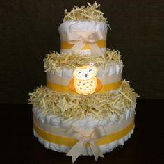 Diaper cake owl - Luiertaartkopen.com