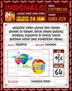 Result Jitu Togel Wap Online Live Draw 4D Indonalo Banda Aceh 21 September 2016