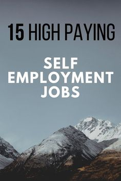 Here is a list of high paying jobs for people who want to be self employed. Lear… Here is a list of high paying jobs for people who want to be self employed. Learn the best business ideas to start today to make a lot of money quickly. Best Business To Start, Best Business Ideas, Best Home Business, Starting A Business, Online Business, Business Education, Business Marketing, Self Employed Jobs, Self Employment