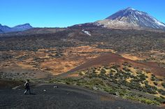 Walking in Teide National Park, Tenerife