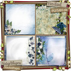 #BooLand #Vintage Whispers Stacked Pages Pack $2.38