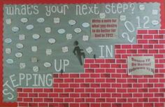 Stepping Up Bible bulletin board
