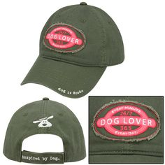 Dog Lover Baseball Hat at The Animal Rescue Site