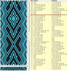 34 tarjetas, 3 colores, repite cada 40 movimientos // sed_929a diseñado en GTT༺❁