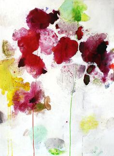 "Orchida XX | Meredith Pardue 40"" x 26.5"", ink, oil, oil crayon, & charcoal on paper, 2011"