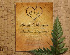 Tree Ring Bridal Shower Invitation Template by InvitationSnob