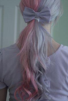 Lilac/pink pastel hair