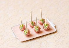 Miniature Dollhouse Food - Cake Pops