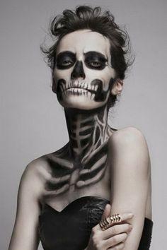 Skull face body paint.