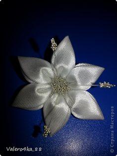 LILY TUTORIAL Master class Tsumami Kanzashi: how do I do a lily tapes.  Photo 13