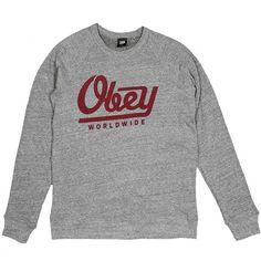 OBEY LE Worldwide sweat-shirt heather triblend fleece 69,00 € #skate #skateboard #skateboarding #streetshop #skateshop @playskateshop