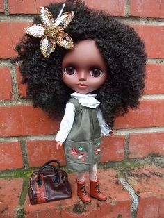 african american blythe ~ beautiful hair!