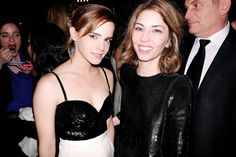 Emma Watson and Sofia Coppola at Cannes