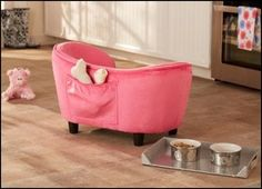 Stunning Deluxe Ultra Plush Snuggle Bed Dog Sofa – Pink (D34804/H)