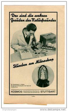Original-Werbung Prospekt 1934 - 4 -Seiter : KOSMOS MIKROSKOPE - ca. 140 X 200 mm