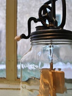 Old fashioned butter churn