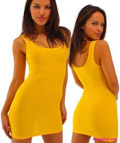 Designer Swimwear yellow dress
