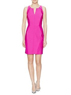 Geometric Seamed Sheath Dress from Mobile First Look: Milly on Gilt
