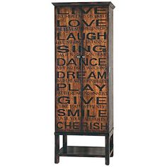 Add a little philosophical wonderment to your dining area with this inspirational 2-door wine cabinet.