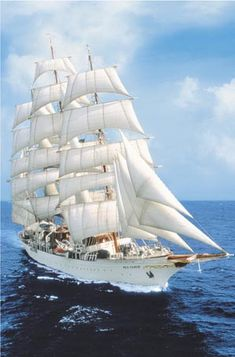 The Sea Cloud (Ship) Art Poster Print