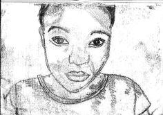 Monoprint Portrait! (Miss Allen's 2012/13 Year 9 Class)