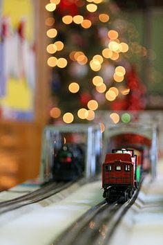Love my picture of the Christmas train at school with bokeh