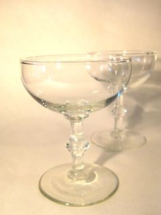 Vintage champagne glasses (coupes)