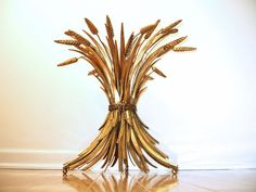 Italian Gilt Sheaf of Wheat Side / End Table  by ObjectOfBeauty