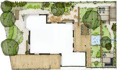 moderne tuin met contrasten - Vis à Vis Ontwerpers