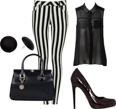 """""""Black and Whithe"""" by luisa-rojas ❤ liked on Polyvore"""