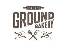 THE GROUND BAKERY - logo design on Pantone Canvas Gallery