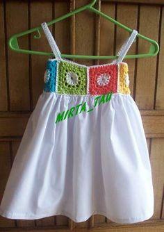 Vestidos De Nena Con Pechera Al Crochet Divinos (Otros) a ARS 150 en PrecioLandia Argentina (78javd)