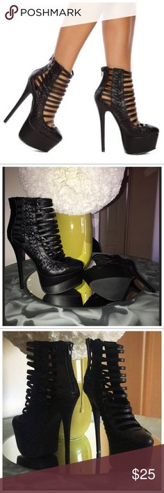Zahia Caged Ankle Booties SZ 9 Zahia caged ankle booties size 9  like new no signs of wear (see pics) I wore them for 30 MINUTES I kid you not in the house. NEVER WORN OUT OUTSIDE Shoes Ankle Boots & Booties