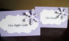 Winter Wonderland Party - Food Tent Cards