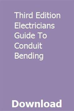 49 Best Conduit Bending images in 2016 | Conduit bending