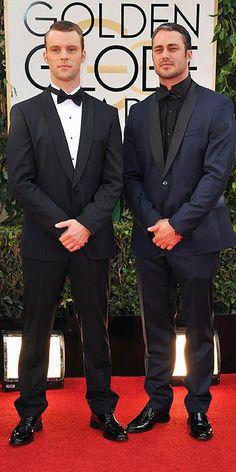 Jesse Spencer and Taylor Kinney - Golden Globes 2014