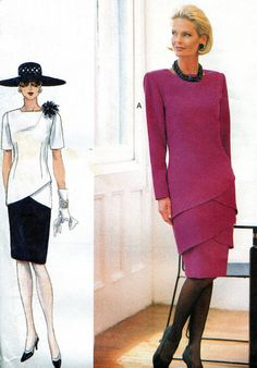 Tiered Drop Waist Dress Sewing Pattern Tapered by paneenjerez, $16.00