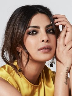 Priyanka Chopra's loose, romantic updo perfectly frames her face
