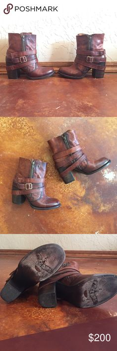 FREEBIRD by Steve Madden Bama bootie! This bootie was gently worn only one time as you can tell by the pictures. It is a distressed brown REAL leather and made to look worn. These booties are in great condition and this style is not made anymore! It has a zipper on both sides that you can wear zipped up or down depending on your style preference. Feel free to make me an offer, but don't lowball please - these are worth the money! ❤️ Steve Madden Shoes Ankle Boots & Booties
