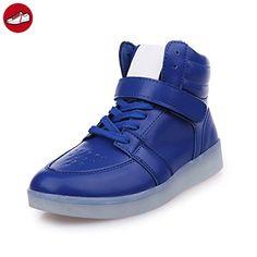 (Present:kleines Handtuch)Rot High-Top EU 38, mode für (TM) Herren Schuhe Leuchtend 7 LED USB Farbe Damen Sport JUNGLEST® Sportschuhe Unisex-Erwachs