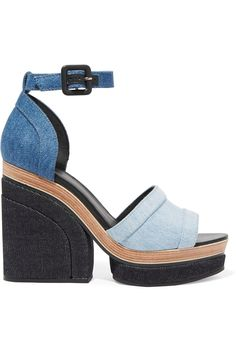 283d51c639e These Pierre Hardy Charlotte Sun Denim Platform Sandals are IT. I rarely go  toward trendy items but these must be mine.