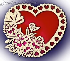 Scroll Saw Patterns :: Miscellaneous :: Decorative plates :: Decorative plate - Butterflies & daisies -