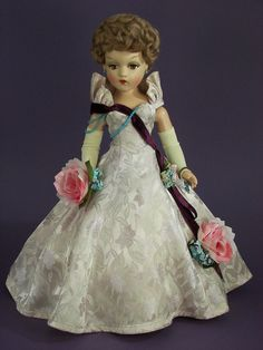 1946 ORCHARD PRINCESS 21 IN. COMPOSITION  PORTRAIT DOLL by Madame Alexander #DollswithClothingAccessories